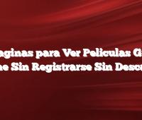 14 Paginas para Ver Peliculas Gratis Online Sin Registrarse Sin Descargar