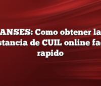 ANSES: Como obtener la constancia de CUIL online facil y rapido