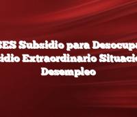 ANSES Subsidio para Desocupados   Subsidio Extraordinario Situación de Desempleo