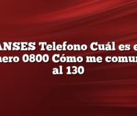 ANSES Telefono Cuál es el número 0800 Cómo me comunico al 130