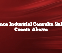 Banco Industrial Consulta Saldo Cuenta Ahorro