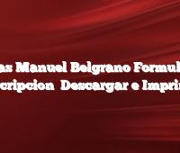 Becas Manuel Belgrano Formulario Inscripcion   Descargar e Imprimir