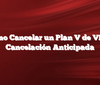 Cómo Cancelar un Plan V de VISA Cancelación Anticipada