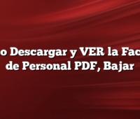 Cómo Descargar y VER la Factura de Personal PDF, Bajar