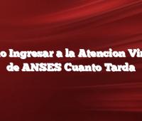 Cómo Ingresar a la Atencion Virtual de ANSES Cuanto Tarda