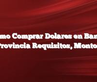 Como Comprar Dolares en Banco Provincia Requisitos, Montos
