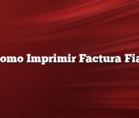 Como Imprimir Factura Fiat