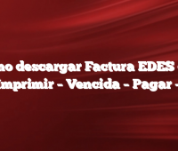 Como descargar Factura EDES con NIS  Imprimir –  Vencida –  Pagar –  PDF