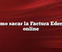 Como sacar la Factura Edenor online