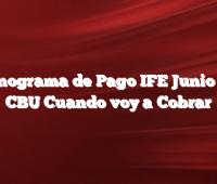 Cronograma de Pago IFE Junio con CBU Cuando voy a Cobrar