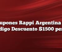 Cupones Rappi Argentina Y  Codigo Descuento $1500 pesos
