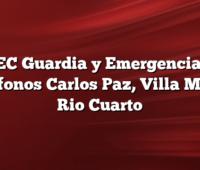 EPEC Guardia y Emergencias Y  Telefonos Carlos Paz, Villa Maria, Rio Cuarto