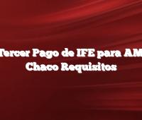 Hay Tercer Pago de IFE para AMBA y Chaco  Requisitos