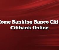 Home Banking Banco Citi –  Citibank Online