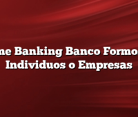 Home Banking Banco Formosa – Individuos o Empresas