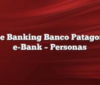 Home Banking Banco Patagonia  –  e-Bank  –  Personas