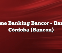 Home Banking Bancor –  Banco Córdoba (Bancon)
