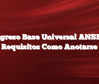 Ingreso Base Universal ANSES  Requisitos Como Anotarse