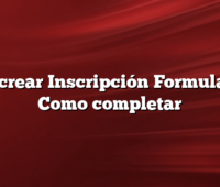 Procrear  Inscripción Formulario Como completar