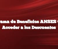 Programa de Beneficios ANSES  Como Acceder a los Descuentos