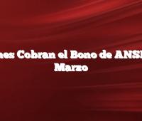 Quienes Cobran el Bono de ANSES en Marzo