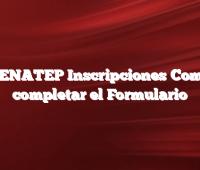RENATEP Inscripciones  Como completar el Formulario