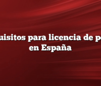 Requisitos para licencia de pesca en España