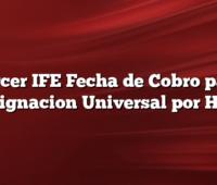 Tercer IFE Fecha de Cobro para Asignacion Universal por Hijo