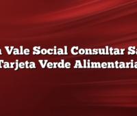Visa Vale Social Consultar Saldo Tarjeta Verde Alimentaria